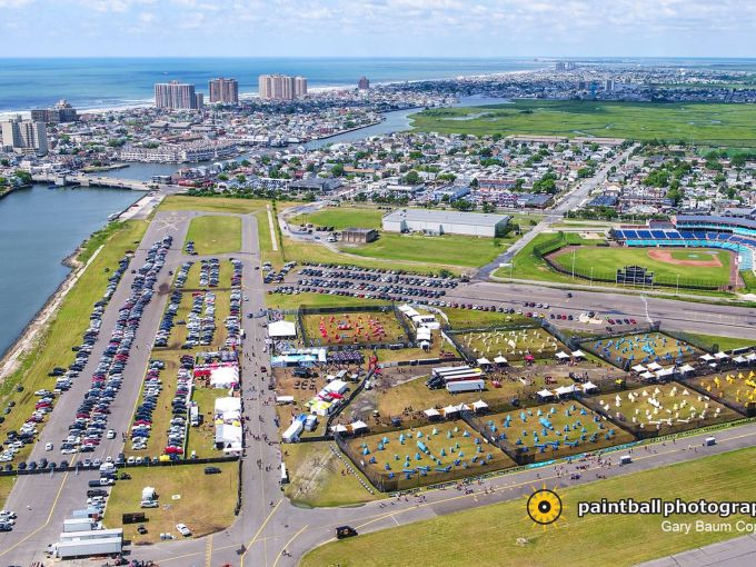 Atlantic City, paintball, tournament, league, field, skyline, aerial