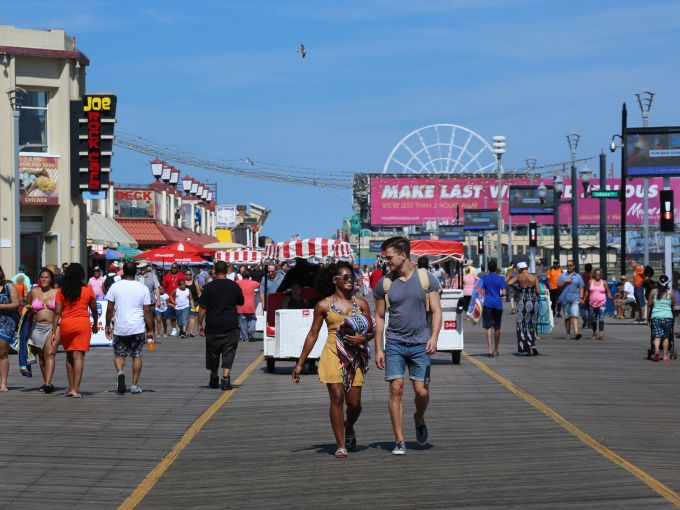 Atlantic City, Atlantic City beach, Atlantic Ocean, Boardwalk, Rolling Chairs, skyline, crowd, famous, historic