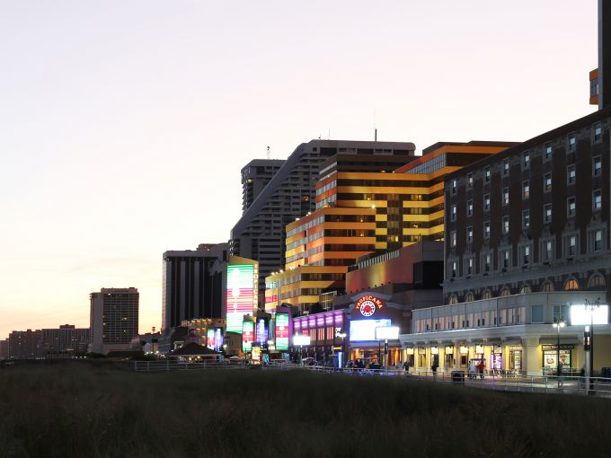 Atlantic City, Atlantic City beach, Atlantic Ocean, Boardwalk, Rolling Chairs, sunset, skyline, crowd, famous, historic, facade