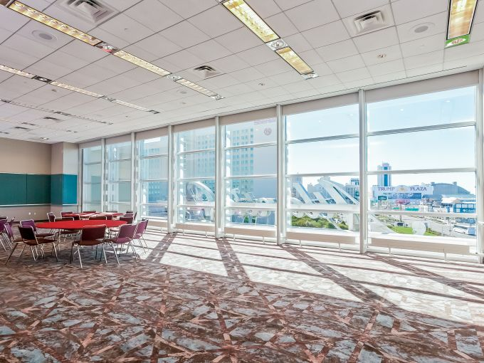 Atlantic City, Convention Center, meetings, trade shows, conferences, conventions, expos, interior, upper level, events, breakout space
