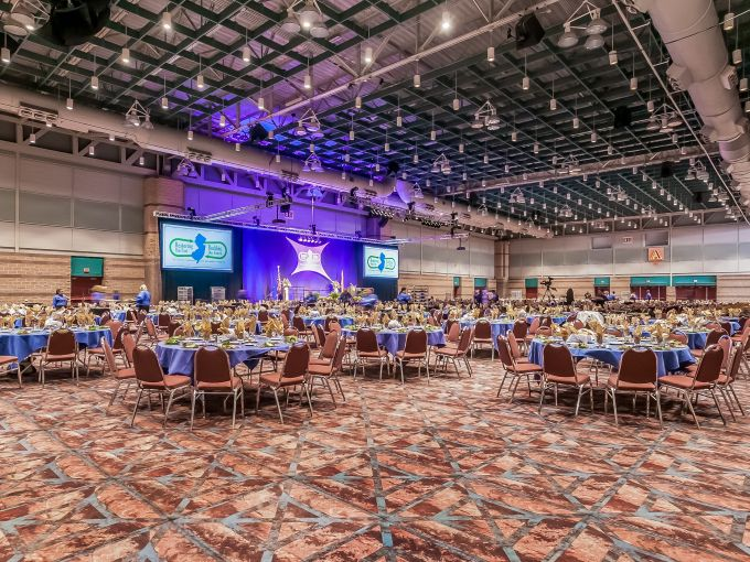 Atlantic City, Convention Center, meetings, trade shows, conferences, conventions, expos, interior, events, keynote session, set-up, space, speaker