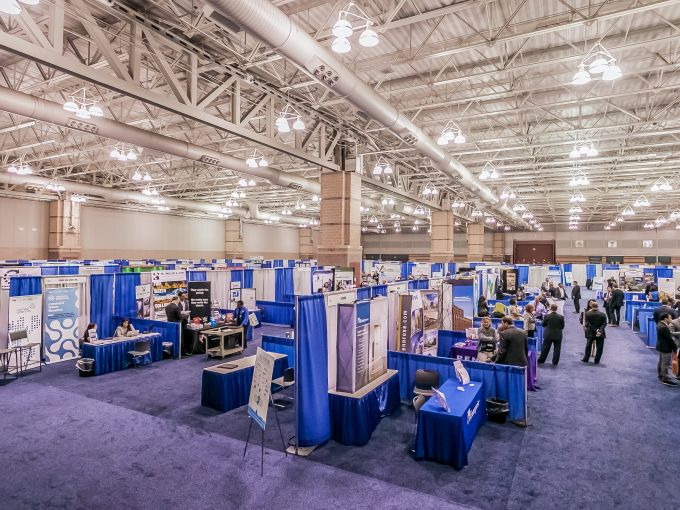 Atlantic City, Convention Center, meetings, trade shows, conferences, conventions, expos, interior, events, keynote session, set-up, space, trade show floor, booth, connect, networking, design, pipe and drape