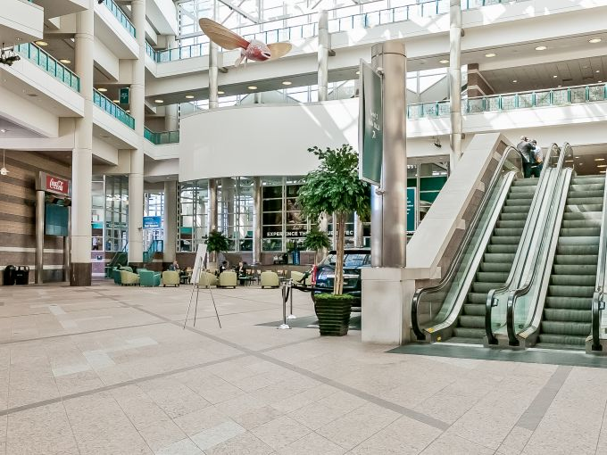 Atlantic City, Convention Center, meetings, trade shows, conferences, conventions, expos, interior, architecture, fish, atrium lobby, design, seating, lobby, concierge, escalator, roof, ceiling