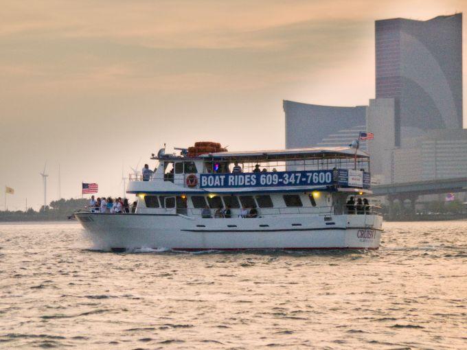 Atlantic City, Atlantic Ocean, Atlantic City beach, Gardner's Basin, Inlet, Back Bay, Marina District, boats, Cruisin 1, sunset, casino, Harrah's, dolphin watching, attraction
