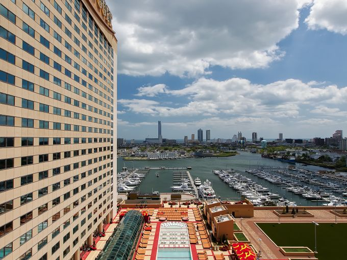 Golden Nugget, Casino, Aerial,  Exterior, Marina District, Atlantic City