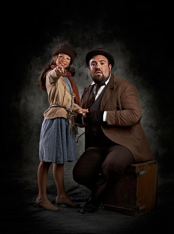 Adam Shapiro as Tateh and Julia Deluzio as his daughter; photo by Matt McKee Photography