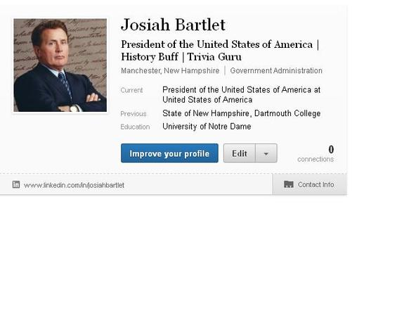 Teaching LinkedIn to the President of the United States of America