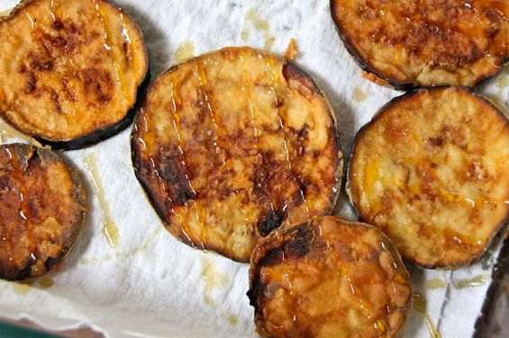 Chosen Eats: Rosh Hashanah Recipe - Eggplant Fritters with Honey