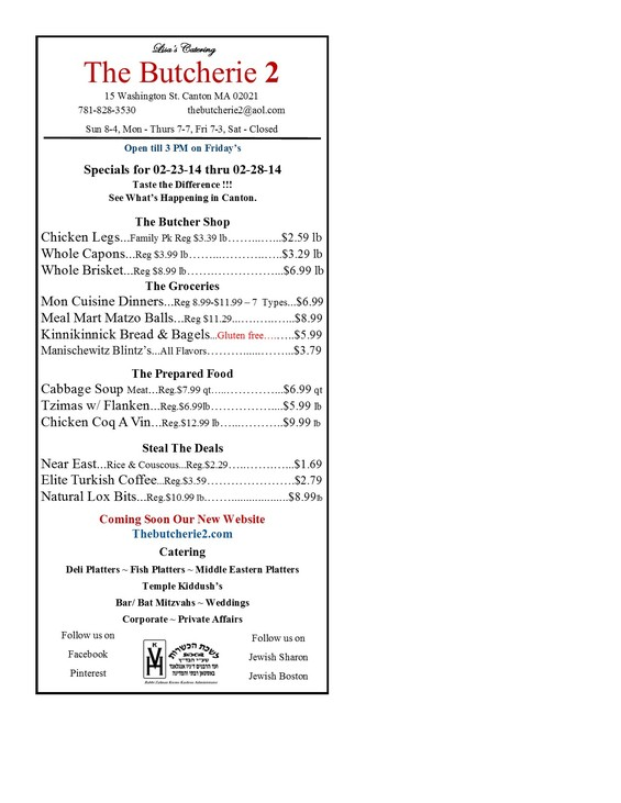 The Butcherie 2 in Canton Weekly Ad for February 23-28