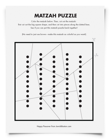 Downloadable Passover Activity Pages for Kids