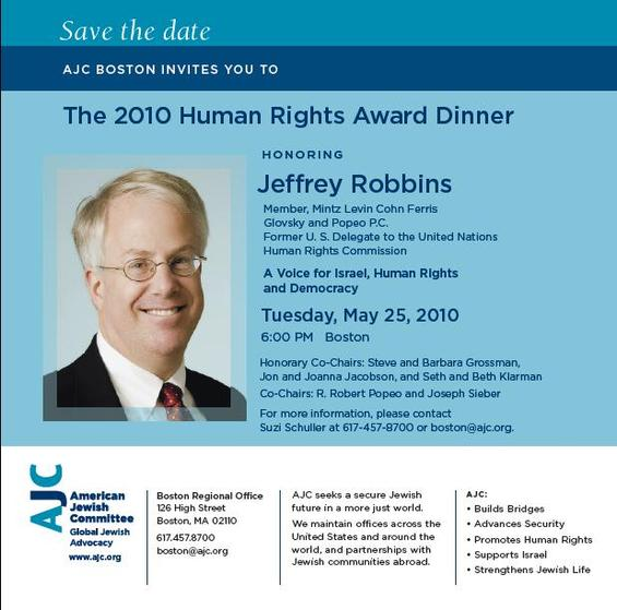 Save the Date: 2010 AJC Human Rights Award Dinner