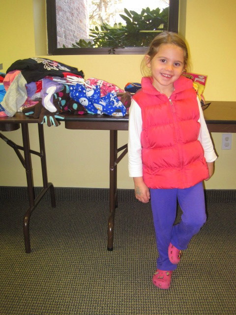 5 year old asks for donations for JFS's holiday collection drive in lieu of birthday gifts