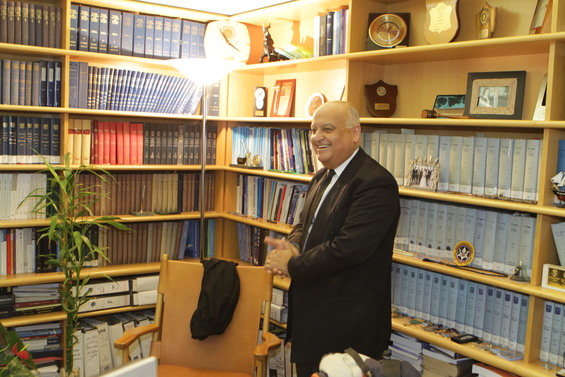 Visiting Justice Joubran, the first Arab Justice with a permanent appointment to Israel's Supreme Court