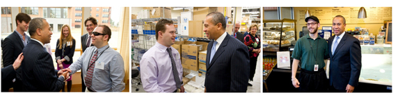Governor Patrick Visits Transitions to Work Program