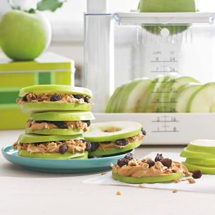 Kid-Friendly Passover Snack: Apple and Almond Butter Sandwiches