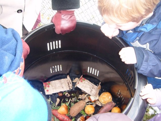 Composting at the Hertz Nursery School