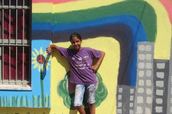 Community Mural in Haifa: Arab neighborhood of Halisa benefits from Boston's Tova Speter art project