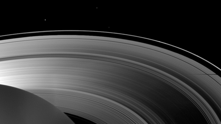 Named Peggy, the newbie hiding in Saturn's A ring had been spotted in images taken by NASA's Cassini spacecraft in April 2013.