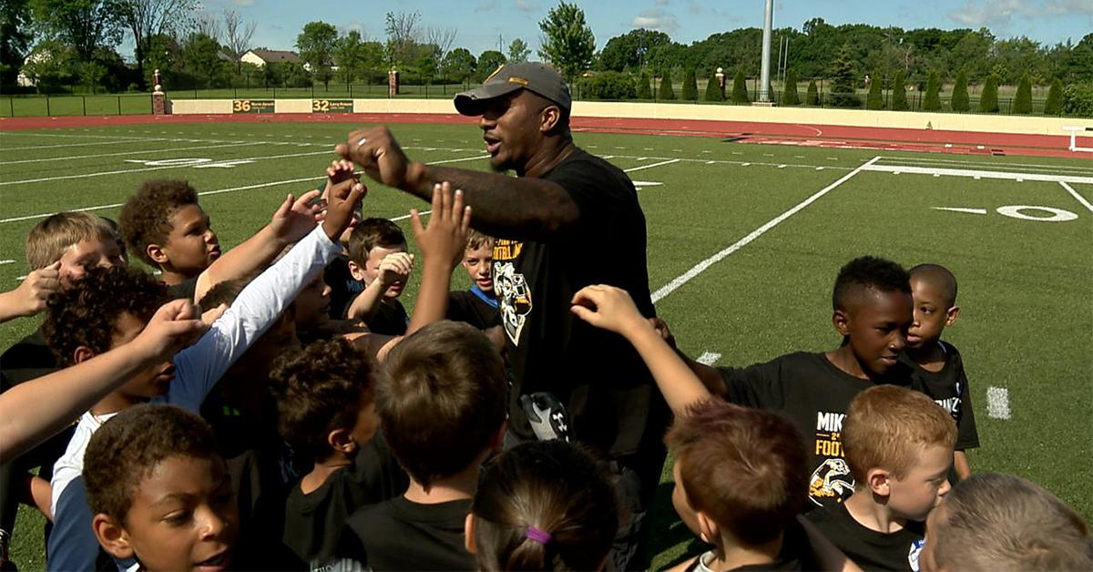 WATCH: Mike Daniels hosts youth football camp
