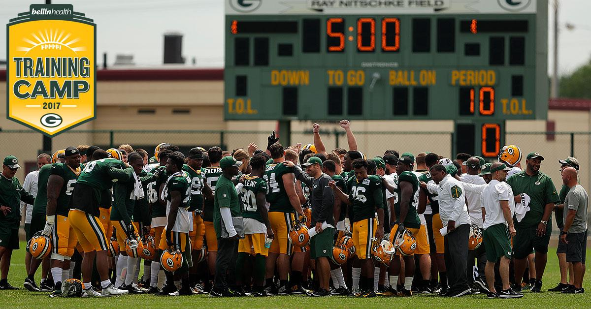 Schedule set for Packers Training Camp, presented by Bellin Health
