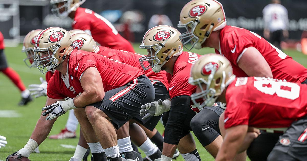 Top 25 Photos of the 49ers Offensive Line from the Offseason Program