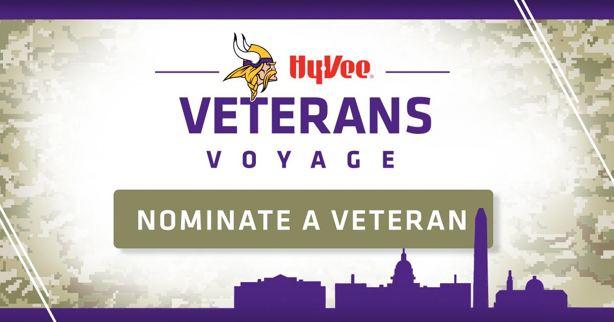 Vikings, Hy-Vee To Provide Experience For Selected Minnesota Veterans On Veterans Day