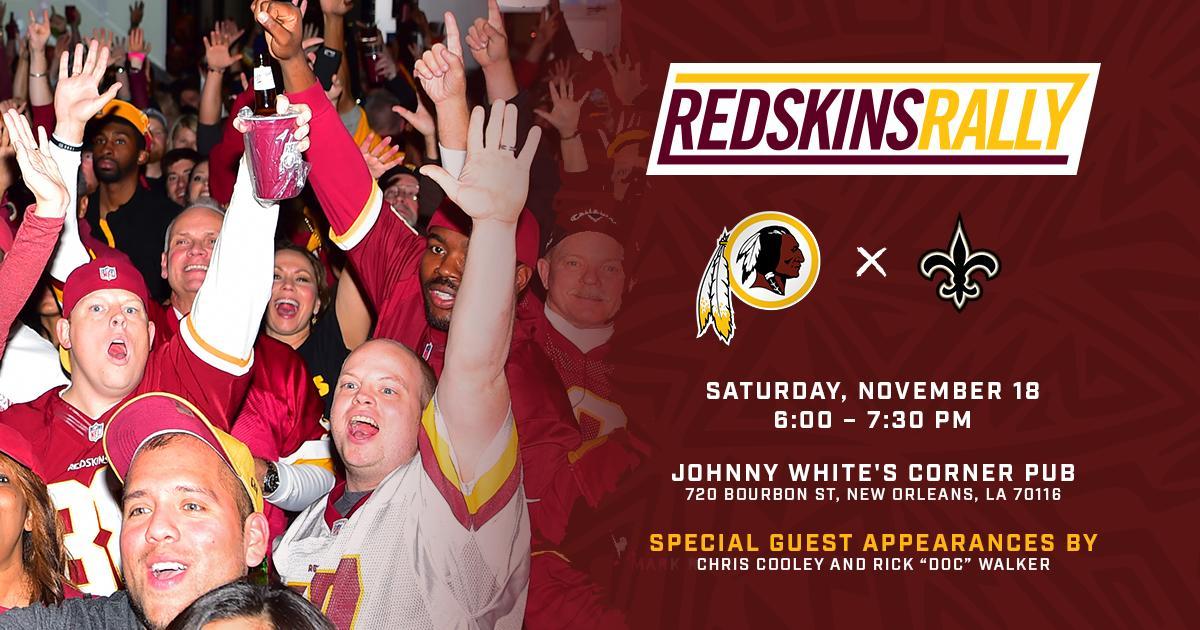 Redskins Road Rally: Redskins at Saints  Redskins Rally