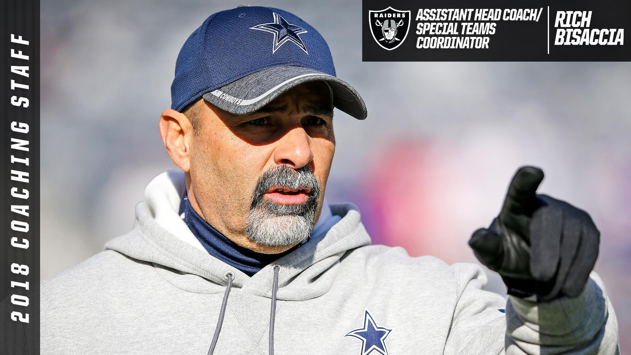 Raiders Announce Rich Bisaccia As Assistant Head Coach/Special Teams Coordinator