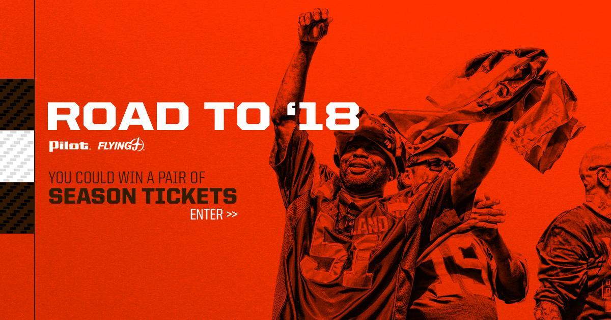 Win a pair of 2018 Browns season tickets