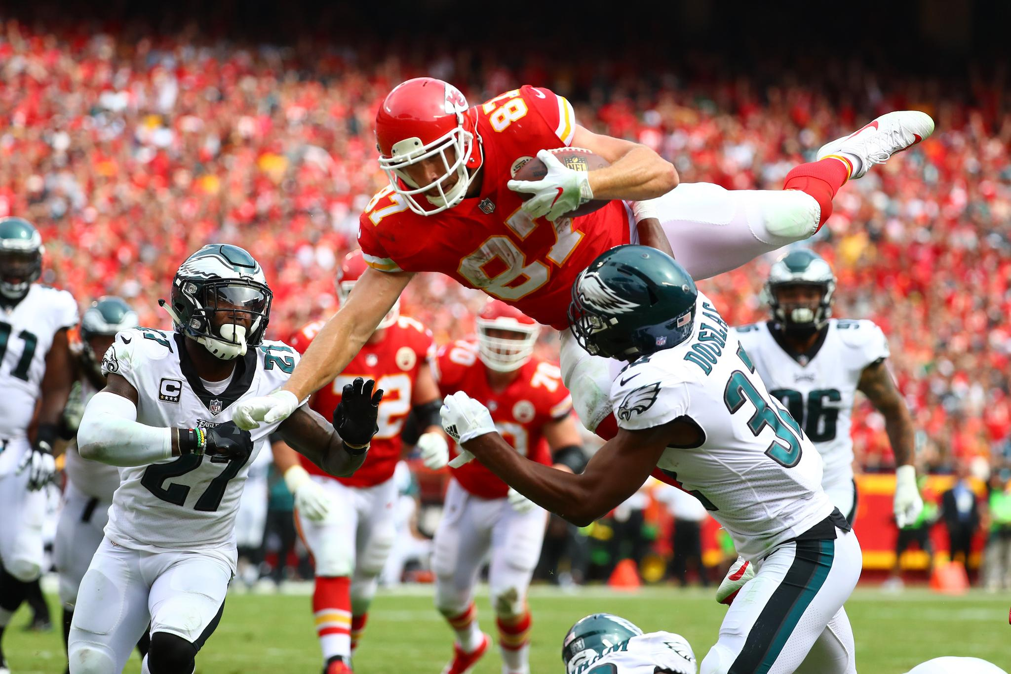 The Story Behind Travis Kelce's Flying Touchdown