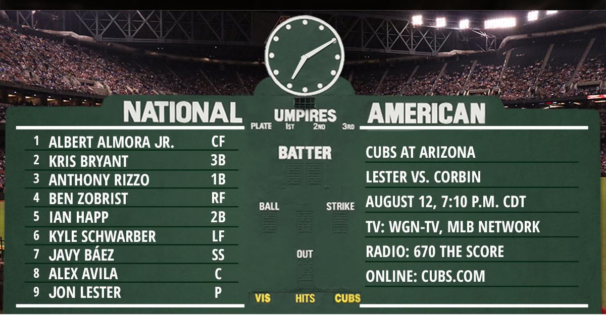 Lester, Cubs face D-backs in AZ