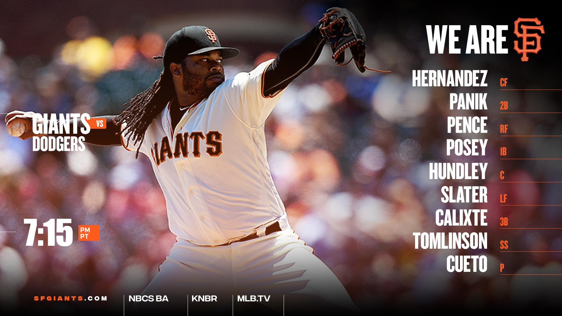 Cueto faces Kershaw