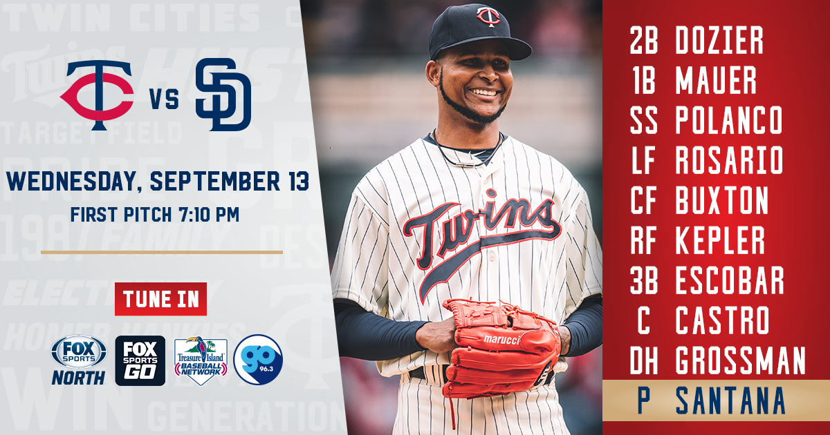 Padres vs. Twins Preview  09/13/17