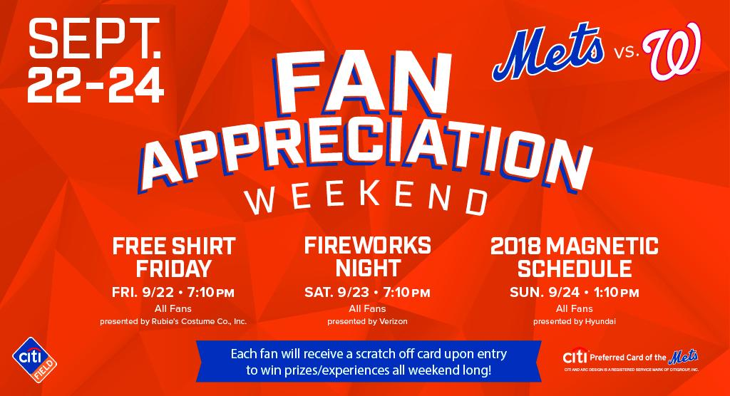 Fan Appreciation Weekend Starts Tonight