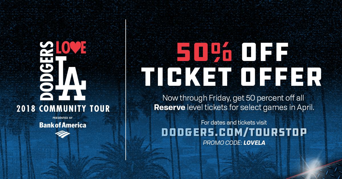 Dodgers Love LA Tour Ticket Offer