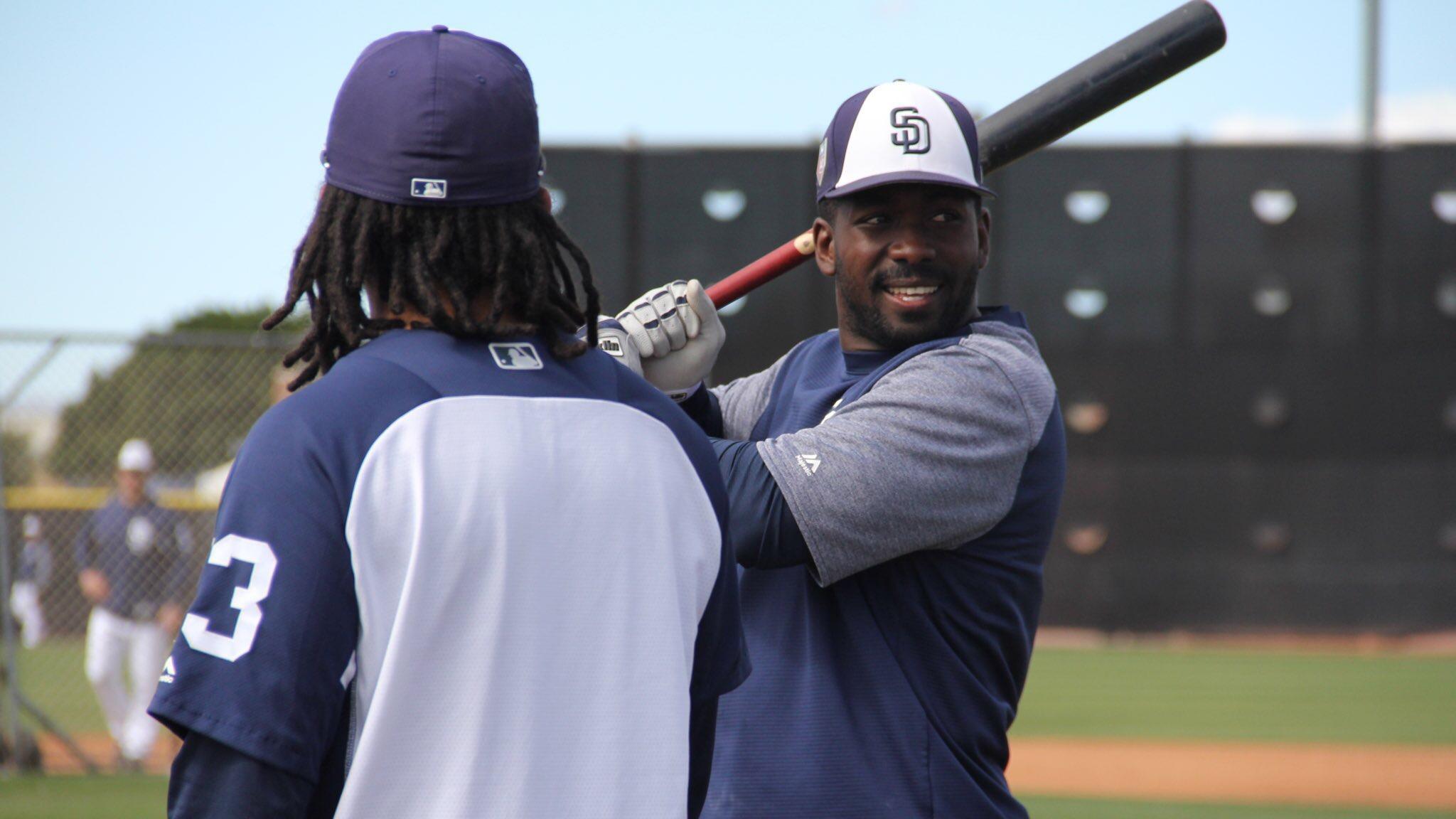 Freddy Galvis, Jose Pirela bonding with Padres