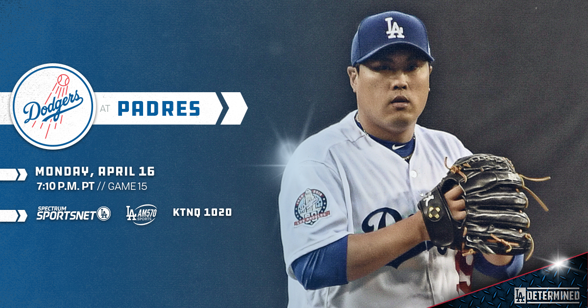 Ryu takes on Padres in series opener