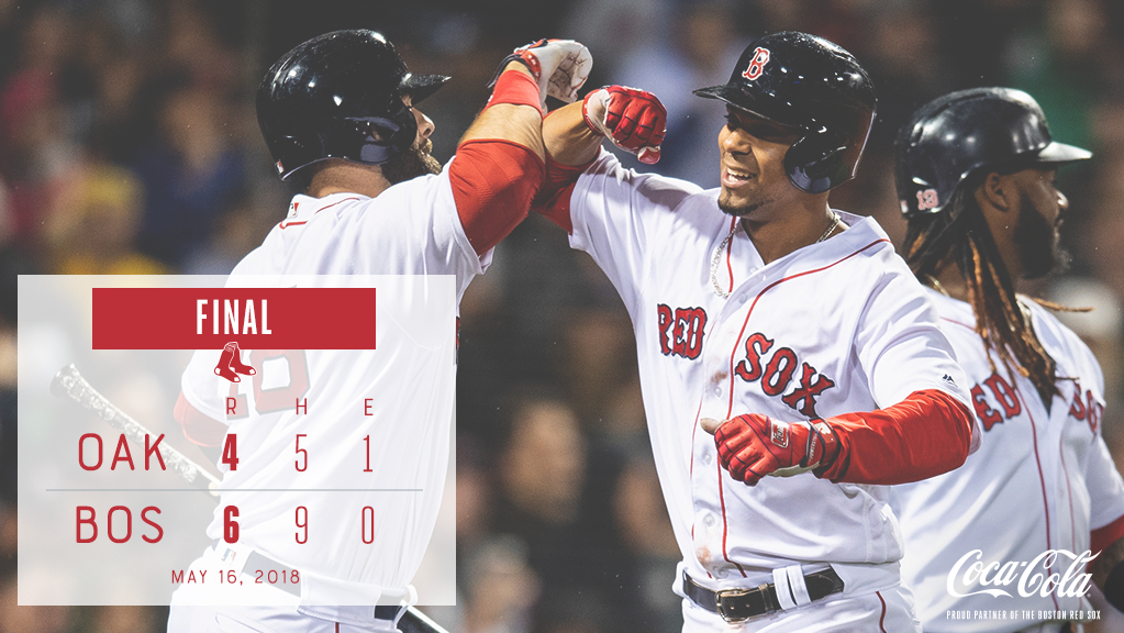 Bogaerts and J.D. homer in win