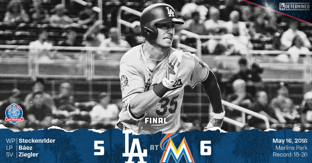 Dodgers fall to Marlins, 6-5
