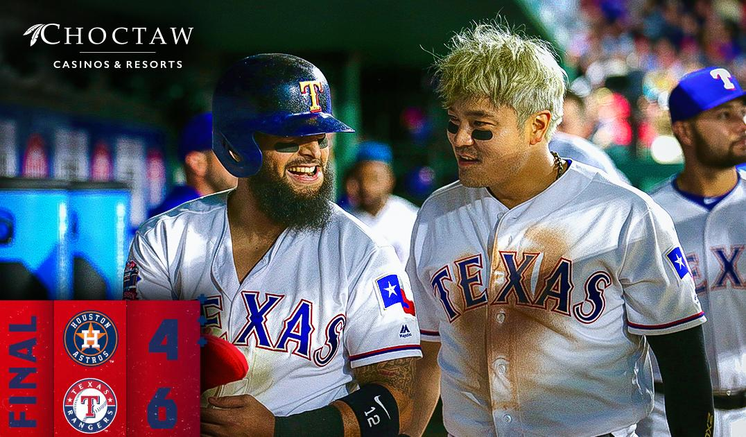 Late offensive spark boosts Rangers past Astros