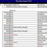 13 Mass Start Track Day 1 Schedule Rev