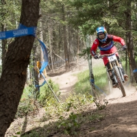Jill Kintner rides to the pro women