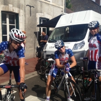 The women are exhausted after a stage of the 2013 Route de France