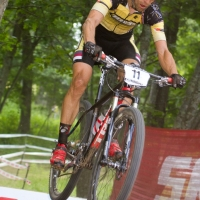 Brian Matter over the SRAM ramp