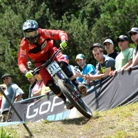 Luca Shaw placed fifth among the juniors men in the downhill