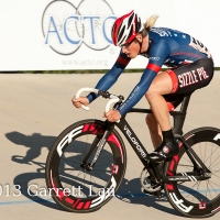 Zac Kovalcik riding well at the Hellyer Velodrome Challenge