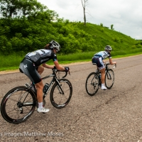 Lauren Stephens leads Olivia Dillon during stage 5