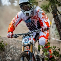 Matt Parker, Jr., of the Trek Southridge USA Team rides through a rocky tree section