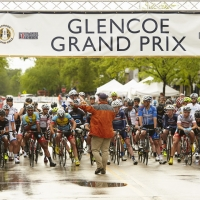 The receive their instructions from an official before the start of their race at the 2013 Glencoe Grand Prix