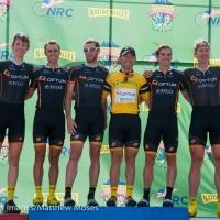 Winner Michael Friedman and his Optum Pro Cycling p/b Kelly Benefit Strategies teammates